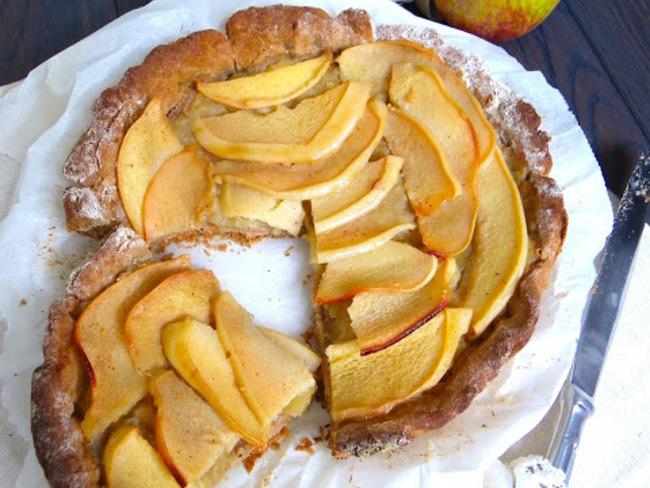 Tarte au sarrasin, coing et pommes