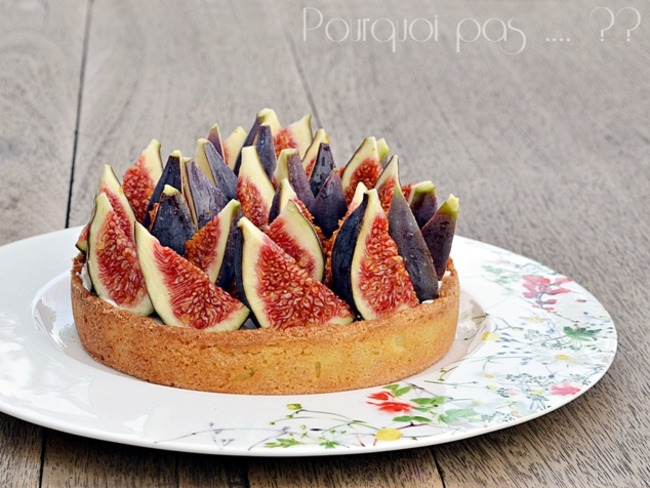 Tarte figues fraiches chantilly tonka