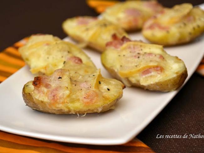 """Pommes de terre façon """"tartiflette"""" pour l'apéro"""