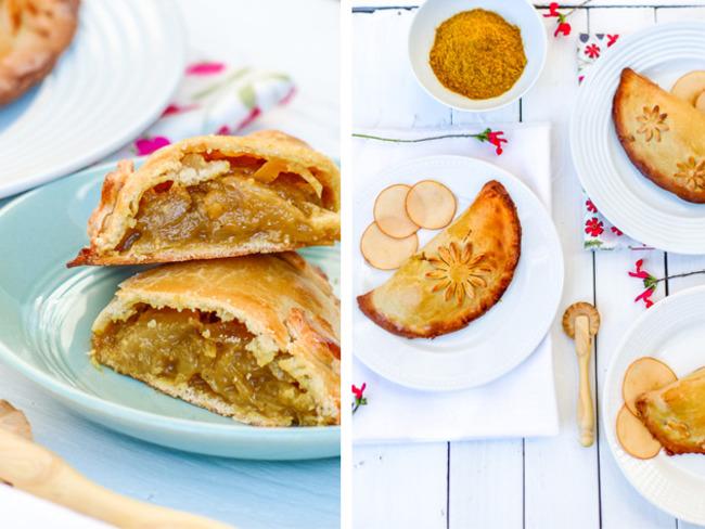 Empanadas au chutney de pommes, oignons et curry