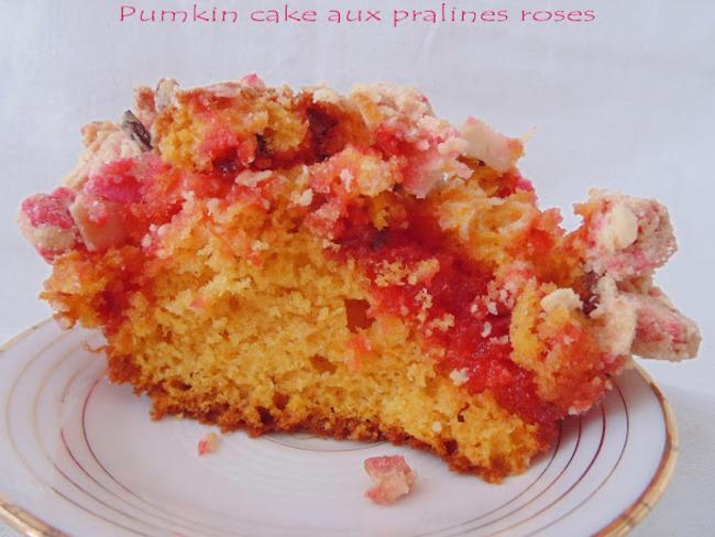Pumpkin cake aux pralines roses