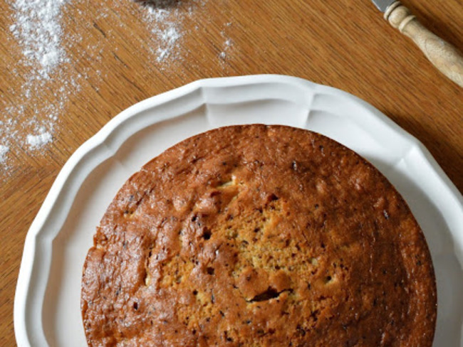 Gâteau aux noix, aux noisettes et au café