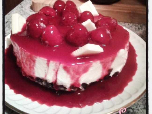 No bake Cheesecake au chocolat blanc et biscuits Oreo