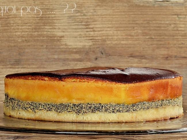 Gâteau fromage blanc pavot