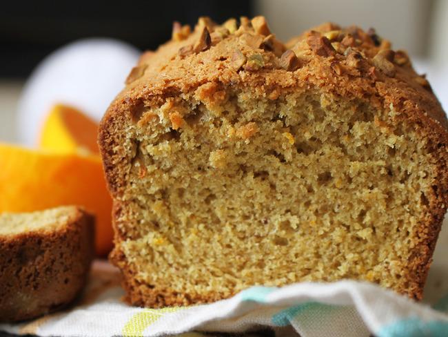 Cake savoureux pistache et orange