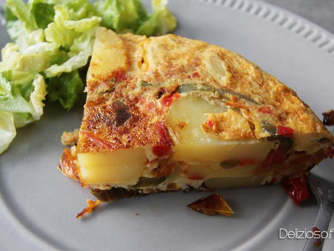 Tortilla aux poivrons confits à la Mijoteuse