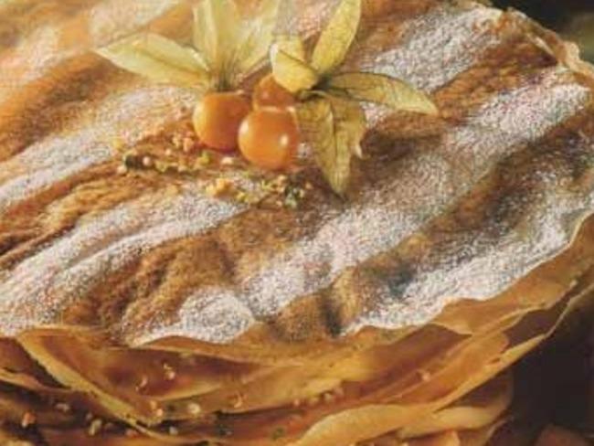 Pastilla de pommes vertes aux amandes et à l'Armagnac