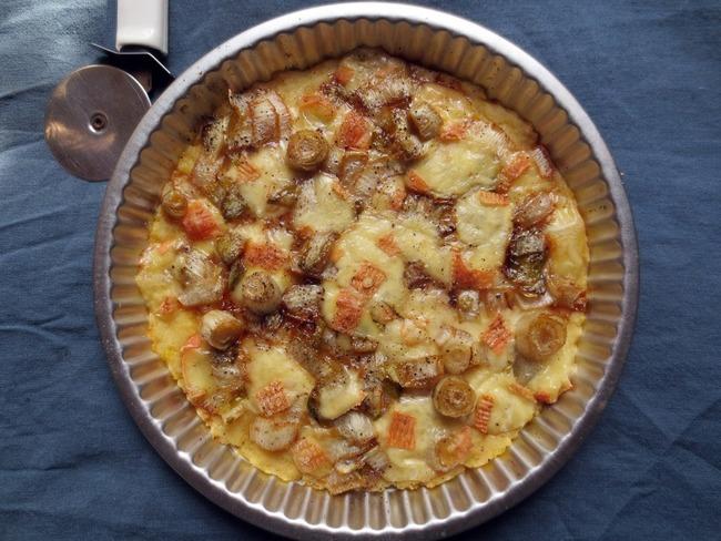 Pizza de Pommes de Terre aux Endives & Maroilles
