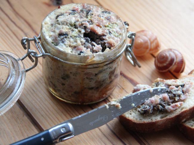 Terrine d'escargots à la bourguignonne