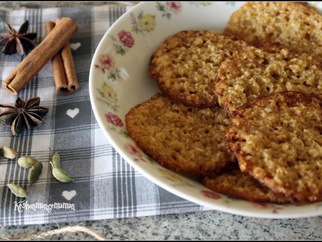 les havreflarn , galettes suédoises aux flocons d'avoine - recette