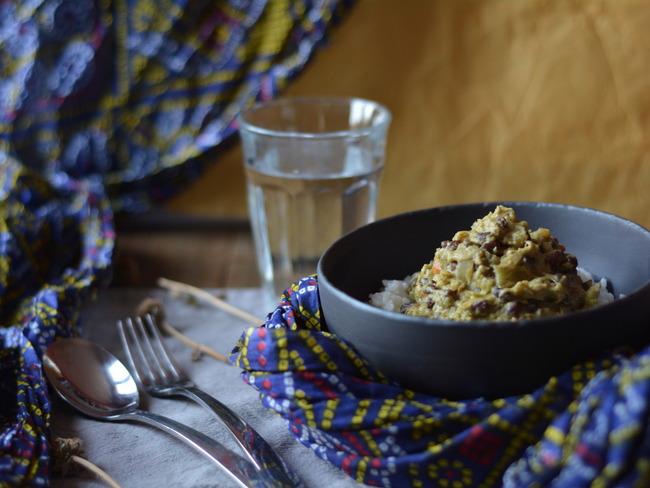 Curry de chou et azukis