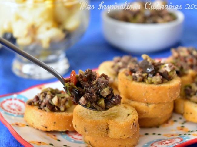Tapenade aux deux olives et Feta maison