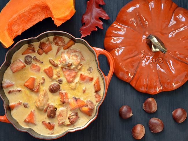 Blanquette de dinde marrons et potiron