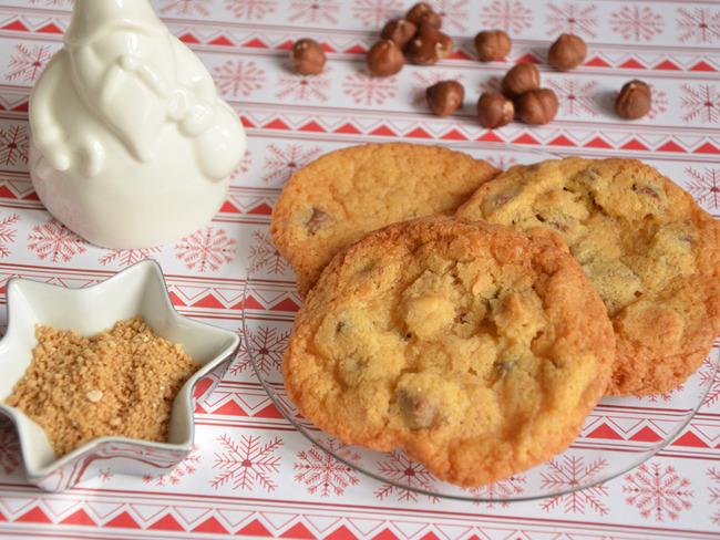 Cookies sucre d'érable noisettes et chocolat au lait