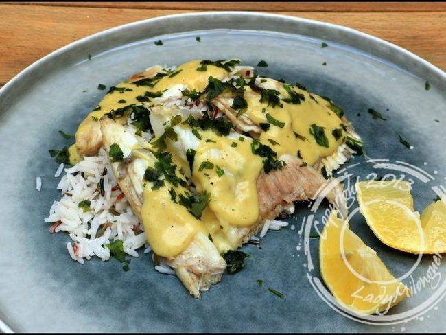 Ailes de raie au curry, gingembre et coriandre