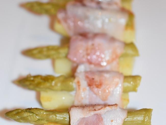 Pomme de terre en sushi d'asperge