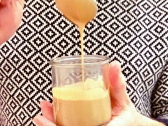 Coulis caramel coco et fleur de sel