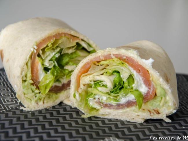 Wraps simple et rapide pour le déjeuner