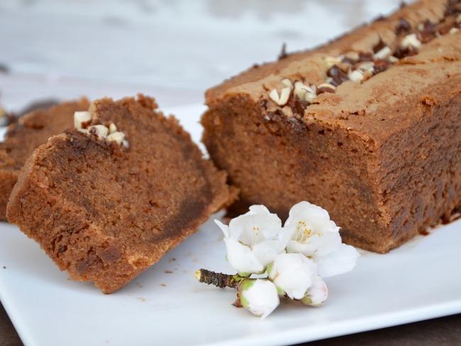 Cake fondant au chocolat praliné