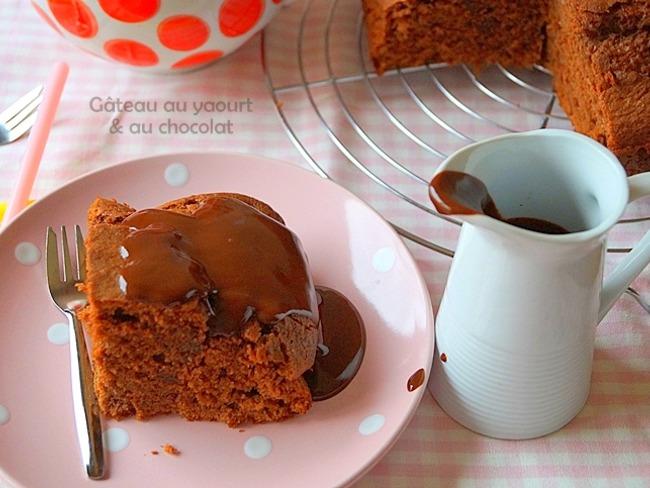 Gâteau au yaourt chocolat moelleux