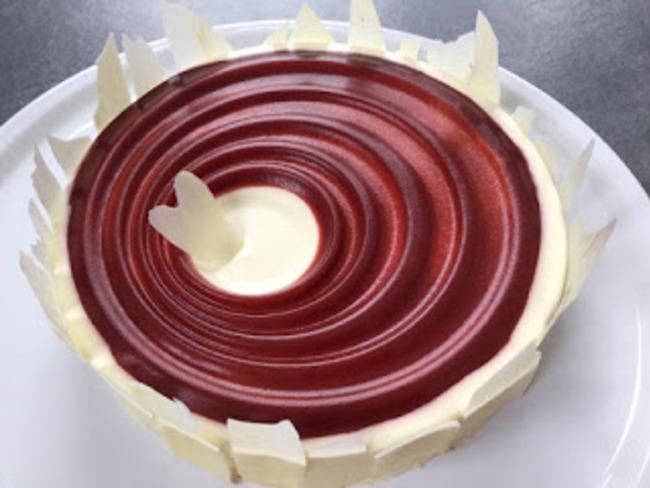 Bavarois chocolat blanc, fruits rouges