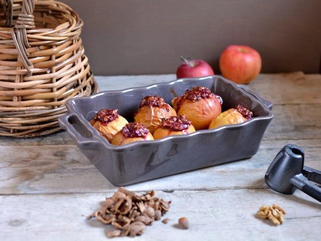 Pommes au four noix et cranberries