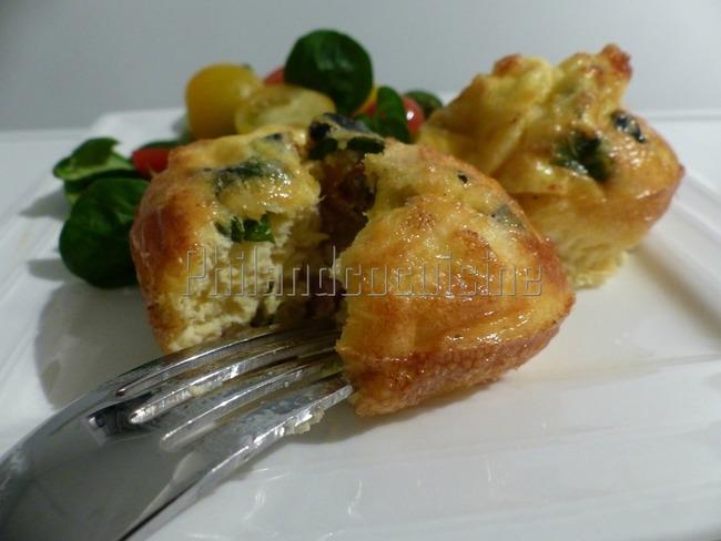 Omelette au four façon muffin