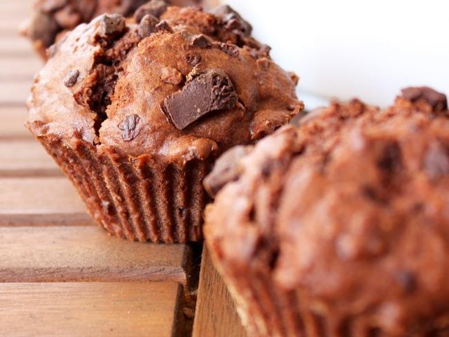 Muffin au chocolat et pépites de chocolat