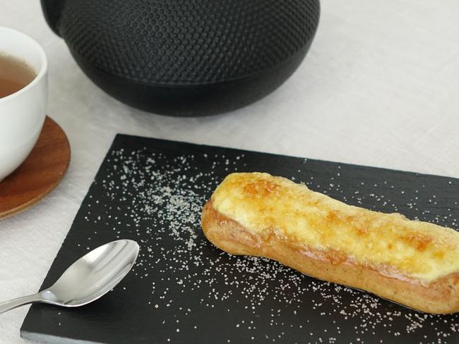 Éclairs pomme crème brûlée