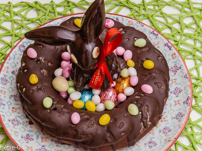 Couronne de Pâques au chocolat