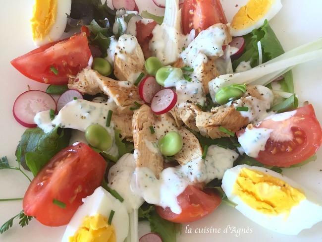 Salade printanière au poulet