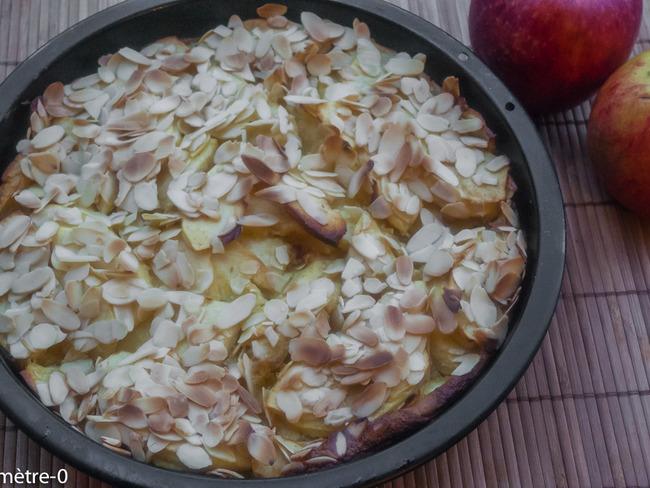 Gâteau pommes amandes
