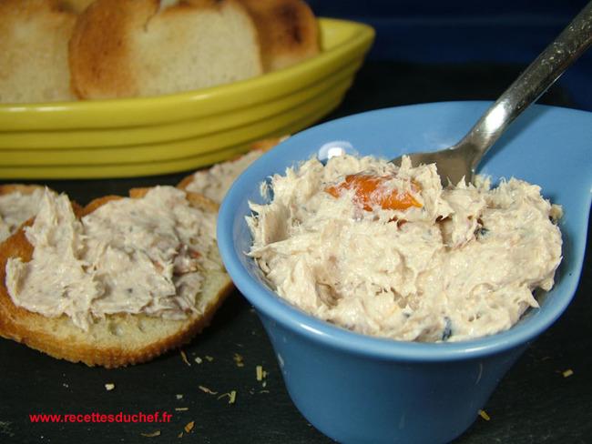 Rillettes de sardines à la tomate confite