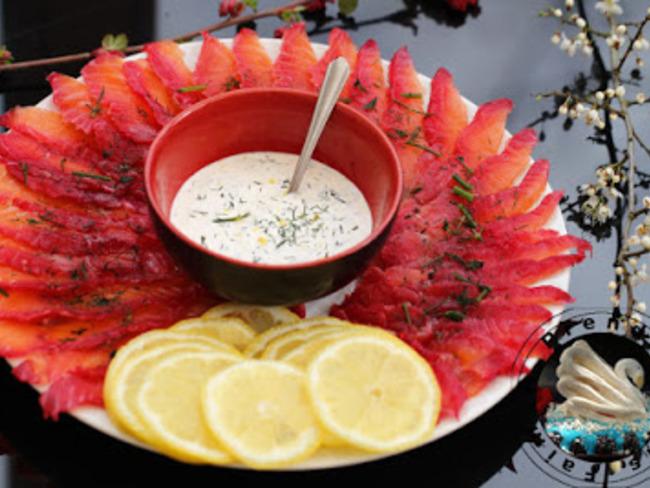 Saumon gravlax aux betteraves de Jamie Oliver