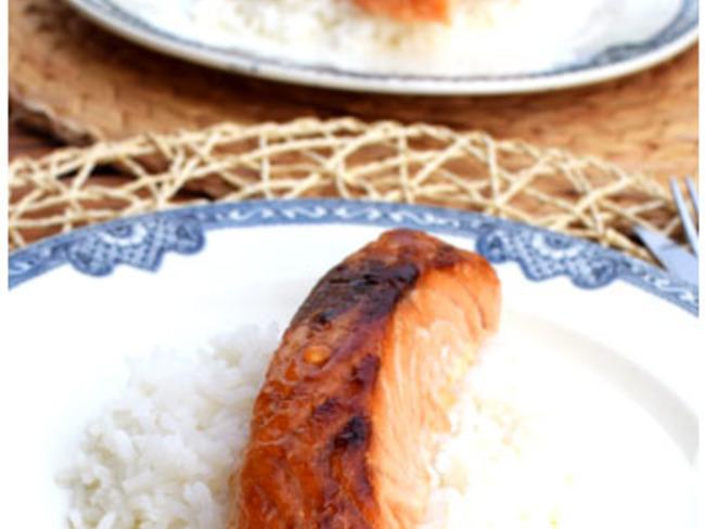 Dos de saumon marinés rôtis