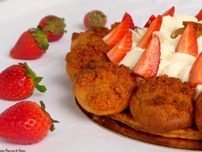 Saint Honoré aux fraises