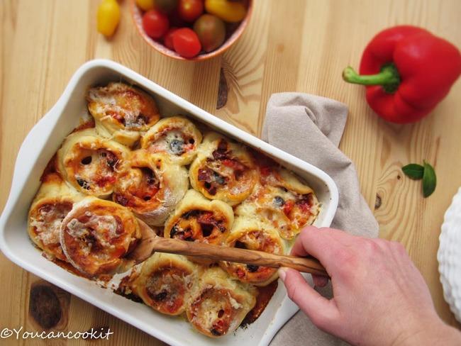 Pizzas roulées à la provençale