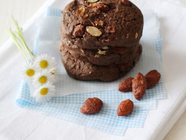 Cookies au Chocolat et Amandes caramélisées Bio