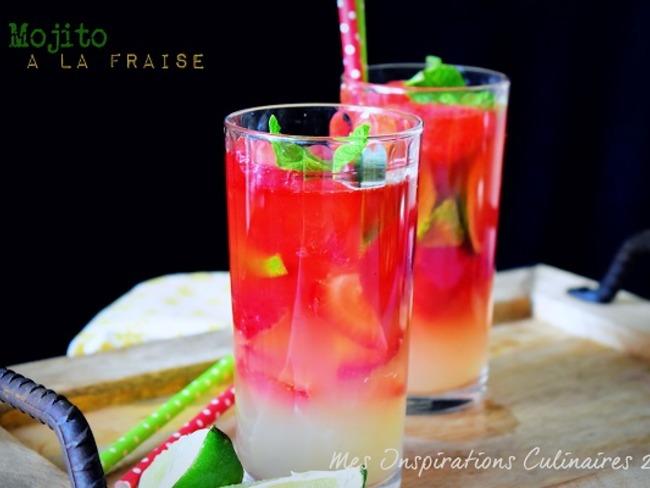 Mojito aux fraises et menthe