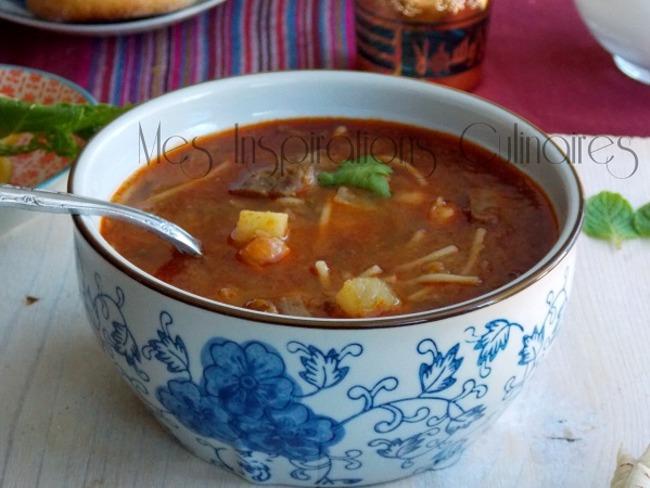 Chorba algéroise sauce rouge