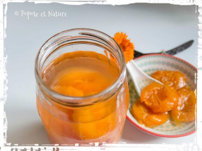 Abricots au sirop léger vanillé