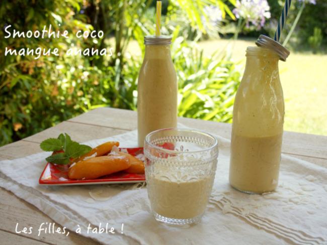 Smoothie coco mangue ananas