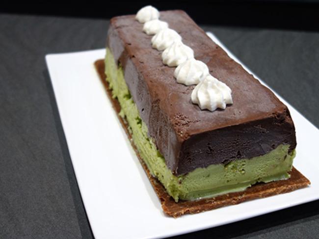 Dessert glacé chocolat pistache