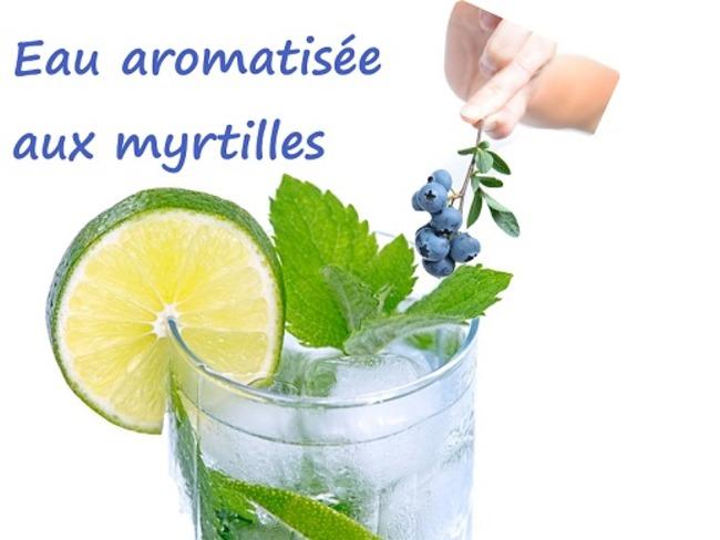 Eau aromatisée aux myrtilles