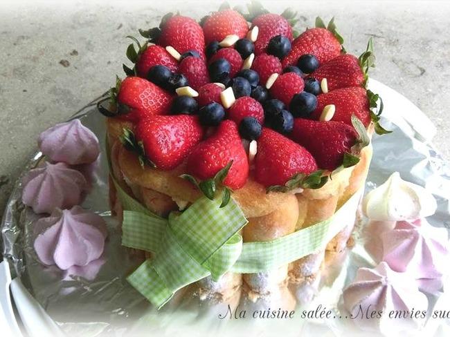 Tiramisu aux fraises version charlotte