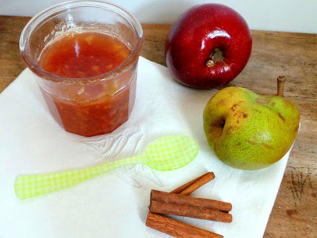 Confiture pommes - poires - cannelle
