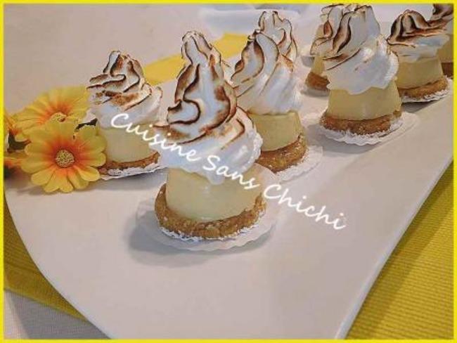 Mini tartelettes au citron meringuées