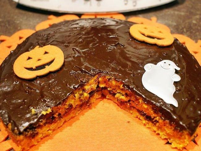 Gateau carotte, chocolat d'Halloween