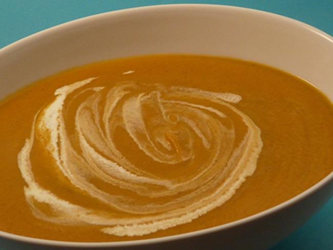 Soupe carottes noisettes