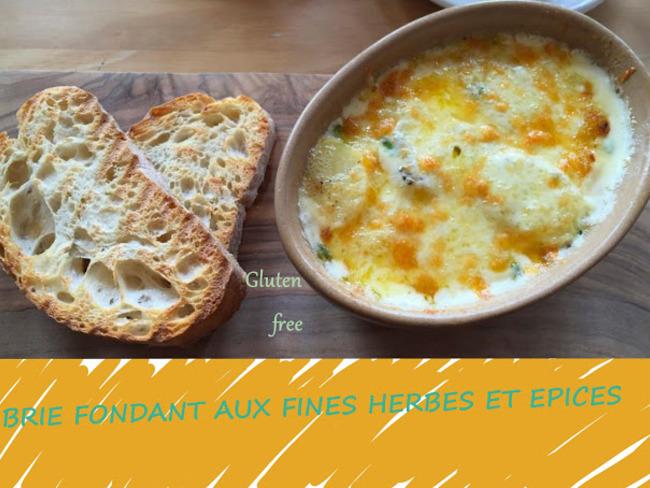 Fromage Brie fondant cuisiné aux fines herbes et épices